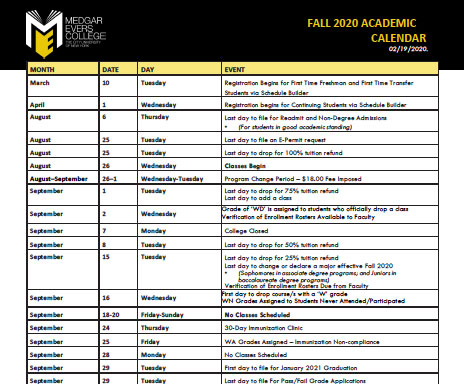 Brooklyn College Fall 2021 Calendar Resources – Office of Academic Affairs