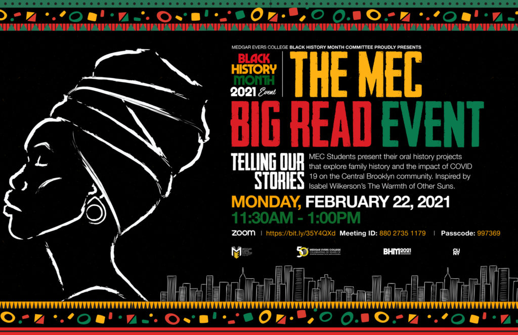 The MEC Big Read Event: Telling our Stories